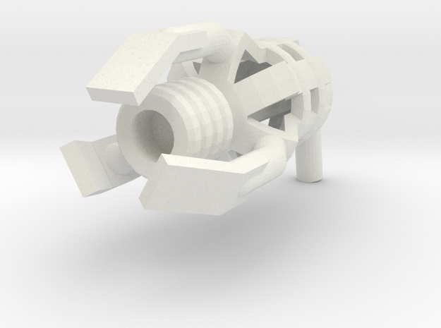 Minifig Gun 11 in White Natural Versatile Plastic