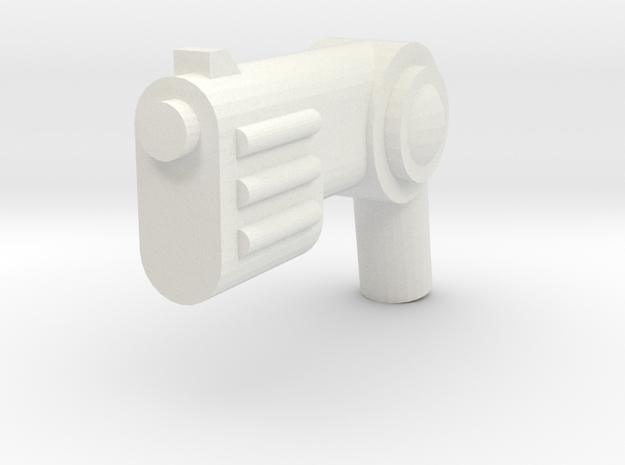 Minifig Gun 10 in White Natural Versatile Plastic