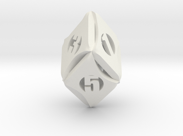 Flash-Rhombic d6 3d printed