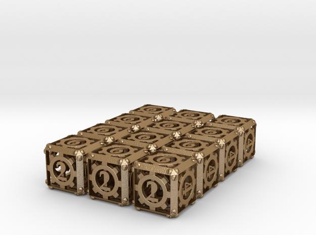 Steampunk 12d6 Set 3d printed