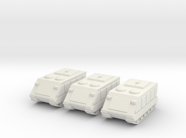 15mm Gavin APC (x3) in White Natural Versatile Plastic
