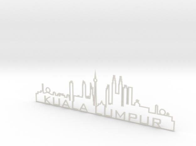 Kuala Lumpur in White Natural Versatile Plastic