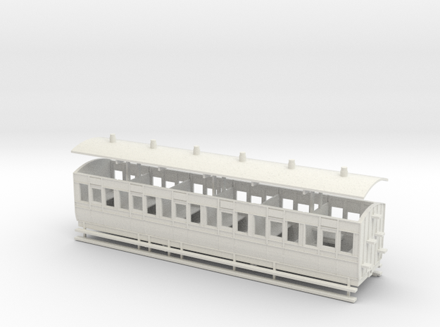 5.5mm scale Letterkenny and Burtonport Extension R in White Natural Versatile Plastic