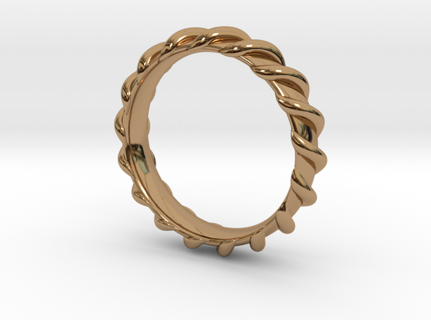 Spiral Wrapped Ring - Size US7 in Polished Brass