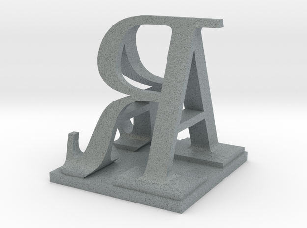 Two way letter / initial A&R size XL 3d printed