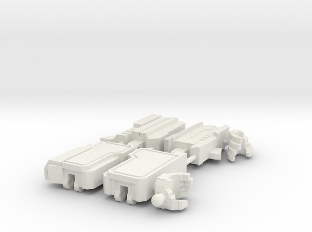 Tyrant Arms (Balljoint Wrists) in White Natural Versatile Plastic