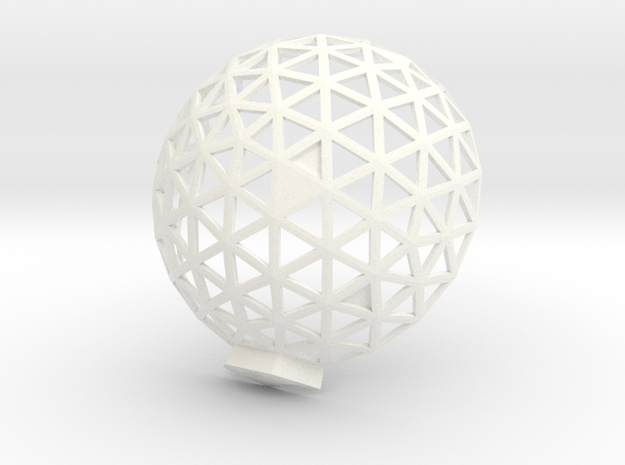 Geodesic Dome 6,1 1 in White Processed Versatile Plastic
