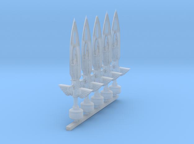 Mk1 - Techno-Flame Sword Mk2 (x5) in Smooth Fine Detail Plastic