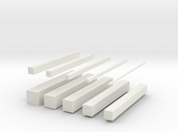 bars in White Natural Versatile Plastic