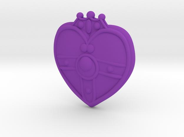 Cosmic Heart Brooch 3d printed