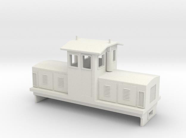 "HOn30 Centrecab Locomotive (""Joanna"") in White Strong & Flexible"
