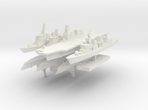 JMSF Fleet 2 1:3000 (8 ships) in White Strong & Flexible