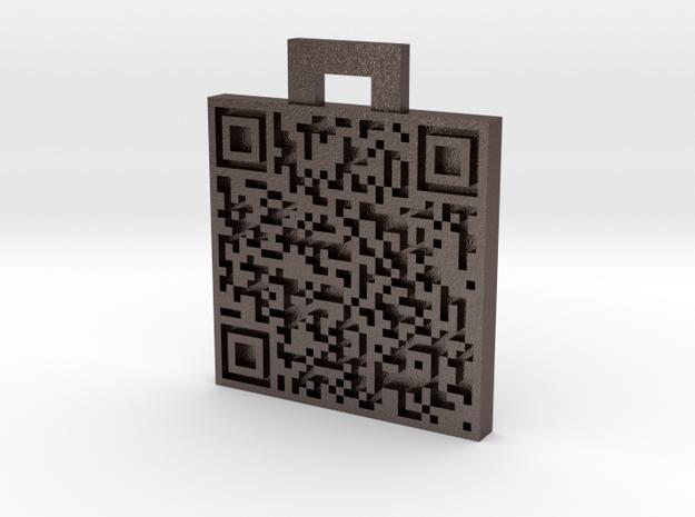 QRCode -- bitcoin:1NjfKsmBHgiX3B676Hi5JCL3GFkDjGfo 3d printed