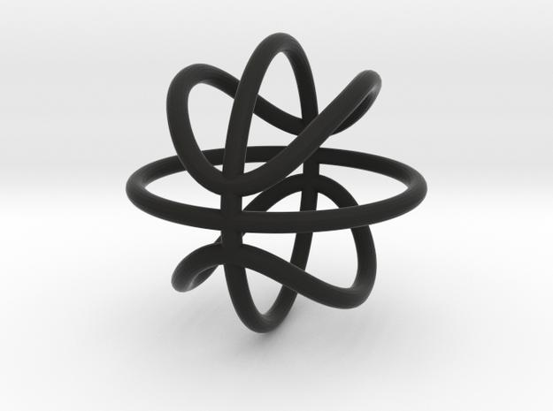 BasketBall Keychain (2.5cm) in Black Natural Versatile Plastic