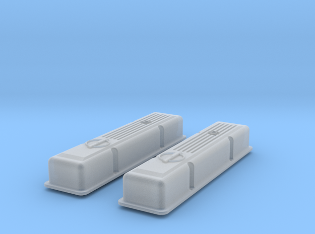 1/12 SBC Half Finned Valve Covers 3d printed