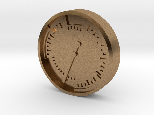 Aviation Button - Airspeed Indicator in Natural Brass