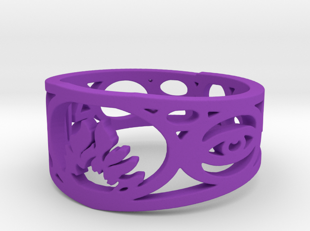 Divergent Ring Size 9.5 3d printed