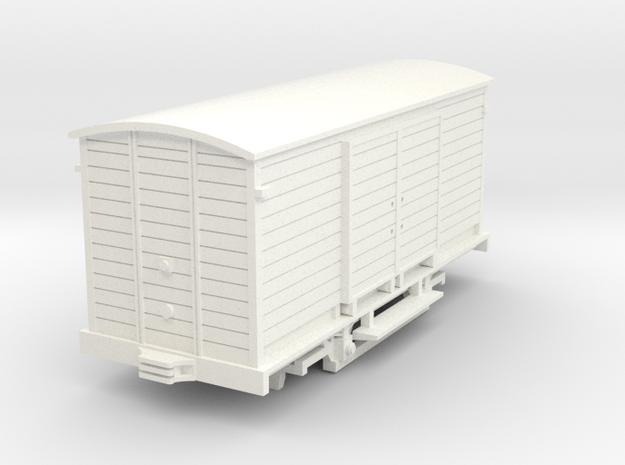 Güterwagen Thüringerwaldbahn H0m in White Processed Versatile Plastic