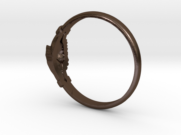 wedding ring Saint Rita of Cascia in Polished Bronze Steel