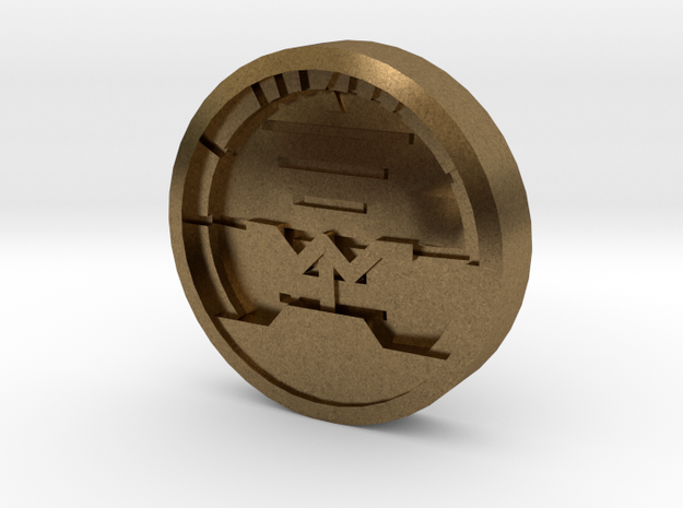 Attitude Indicator - 18mm Shirt Button 3d printed