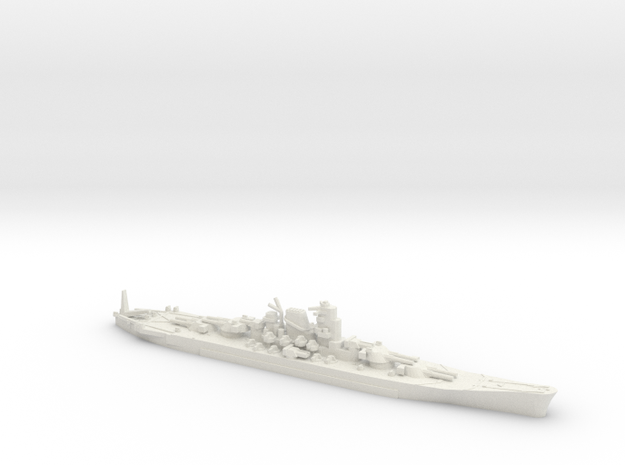 "1/2400 IJN Never Were Super Yamato 8 x 20"" in White Strong & Flexible"