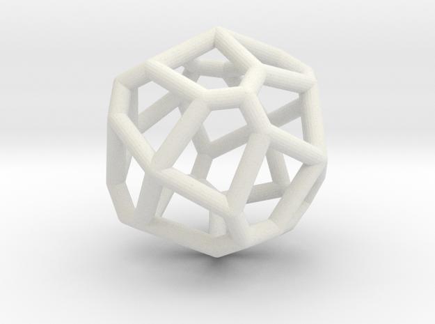 bilateral pentagonal icositetrahedron in White Natural Versatile Plastic