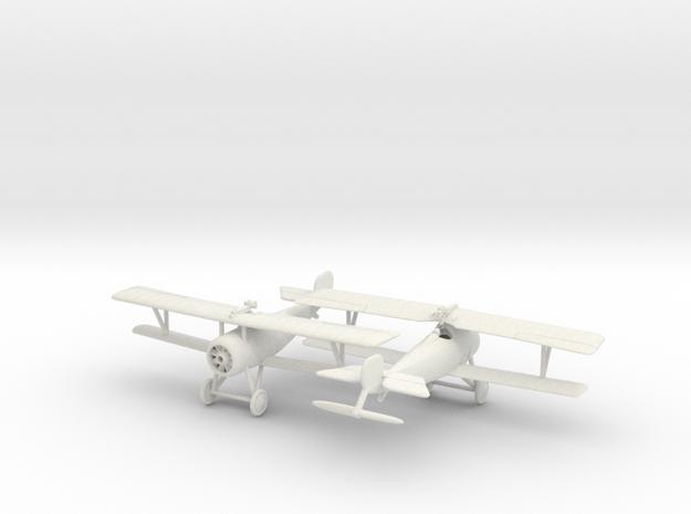 Nieuport 17 bis (lewis) x2 1/144  in White Natural Versatile Plastic