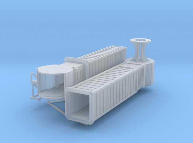 Articulated airport jetway (aerobridge), 1:200 in Frosted Ultra Detail
