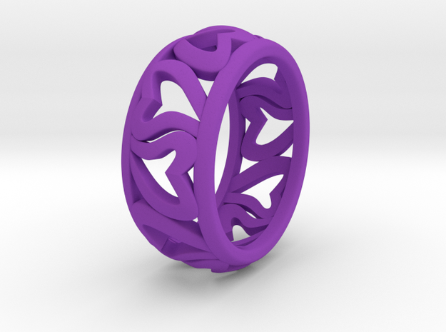 Heart of Eternity ring 3d printed