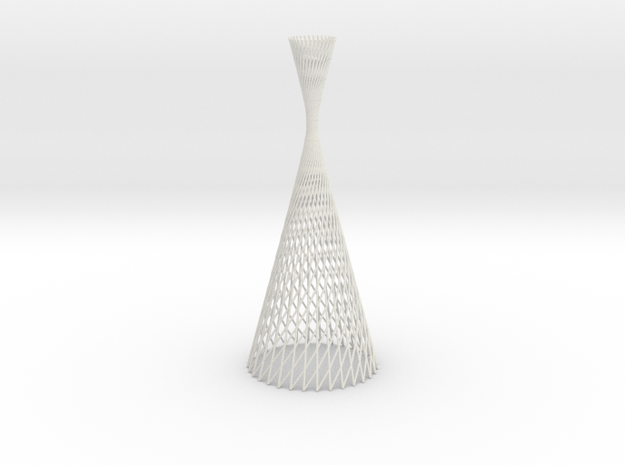 lightform | hyperboloid revolution  in White Natural Versatile Plastic
