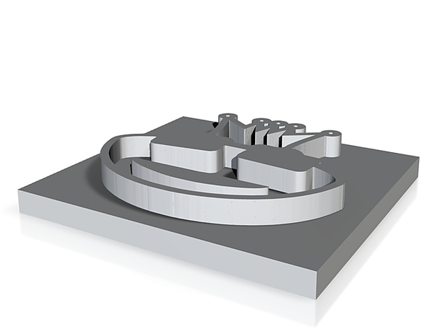 Froschkönig Stempelplatte 3d printed