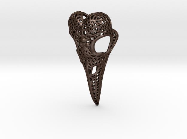 Filigree Raven Skull 3d printed