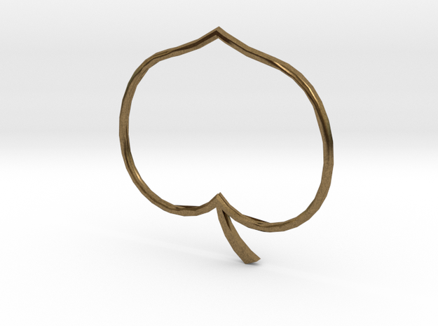 Heart apple in Natural Bronze