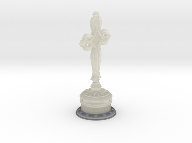 Decorative Cross with hollow base 3d printed