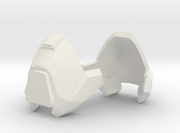 1:6 knee armor 1 pair revised scale 3d printed