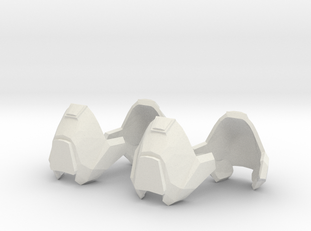 1/6 scale knee armor 2 pairs revised scale in White Natural Versatile Plastic