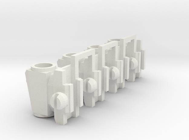 1:6 scale Raised Optic X4 in White Natural Versatile Plastic