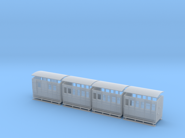 Sn2 set of 4w coach bodies 3d printed