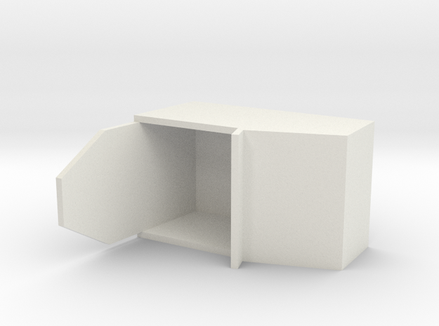 """Simple Action Figure Seat - 3-3/4"""" Scale in White Strong & Flexible"""