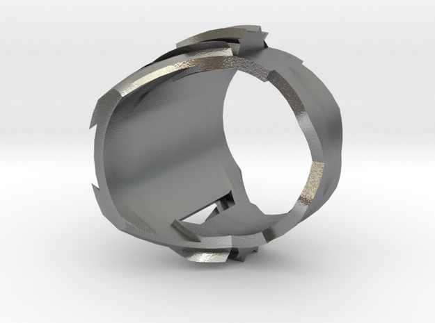 Ring Experiment One in Natural Silver