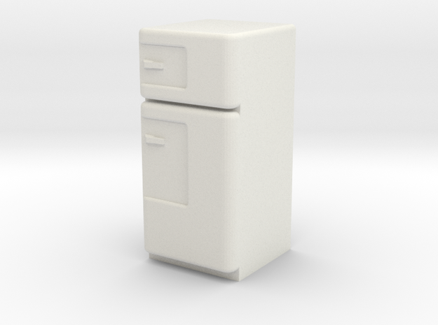 1:24 Vintage Fridge, Smaller in White Natural Versatile Plastic
