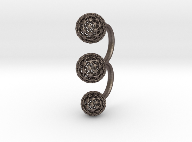 dringmeshex in Polished Bronzed Silver Steel