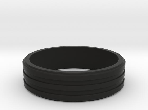 Three Band Ring size 17 (Q) 3d printed