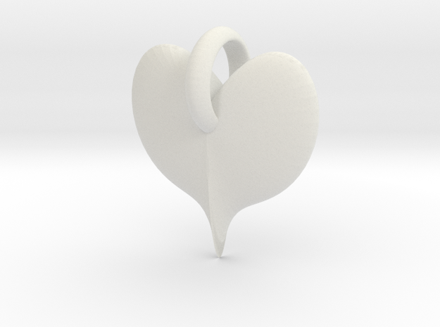 ringedheartCharm 3d printed