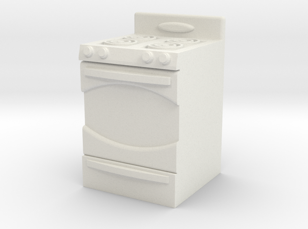 1:24 Stove in White Natural Versatile Plastic