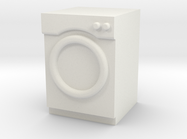 1:24 Washer/Dryer in White Natural Versatile Plastic