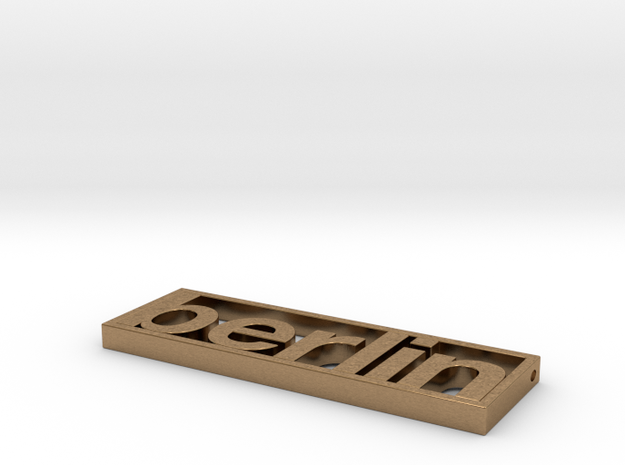 Typeberlin Berlin Pendant 3d printed