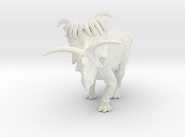Kosmoceratops 1/72 Krentz in White Natural Versatile Plastic