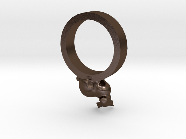 Bunny Ring size 11 3d printed