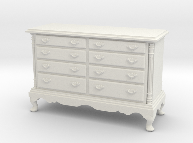 1:24 Double Dresser in White Strong & Flexible